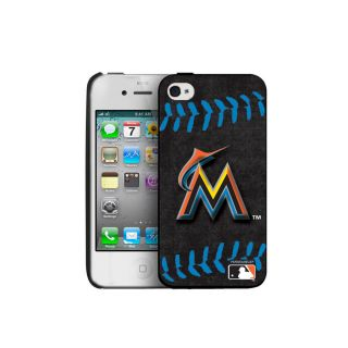 Miami Marlins MLB iPhone 4 4S Blue Stitch Hard Case Cover New