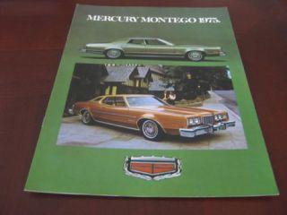 1975 Mercury Montego Brochure MX Brougham