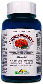 Cerebrate Natural Brain Memory Enhancer Formula 60 Pill