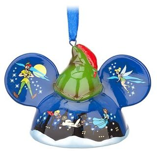 Disney World Peter Pan Mickey Ear Hat Ornament Limited Edition