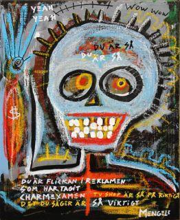 Skulls outsider Mexican folk art brut by Christian Mengele Gothenburg