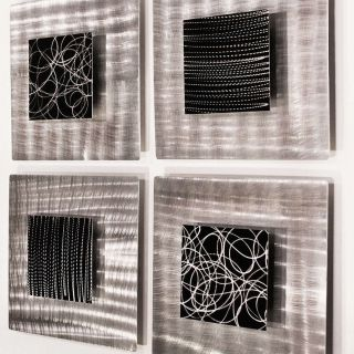 Modern Abstract Black Metal Wall Art Sculpture Freestyle By Jon Allen