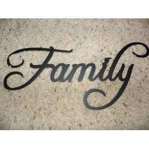 Family Word Decorative Metal Wall Art Home Decor