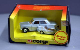 Corgi Toys Duo Pack 1380 Mercedes Benz 240D Silver