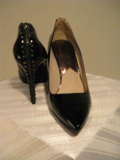 MICHAEL Michael Kors High Heel Black Patent Leather Shoes Size 11 MFSP