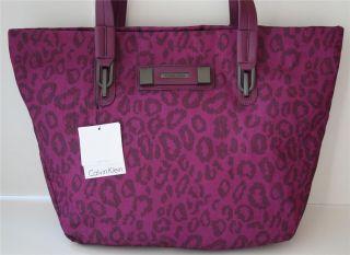 Calvin Klein Logo Sport Shoulder Bag Large Shoppers Tote Purple