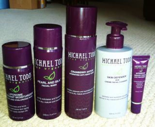 New Michael Todd True Organics anti aging skincare regimen 5 pc Set
