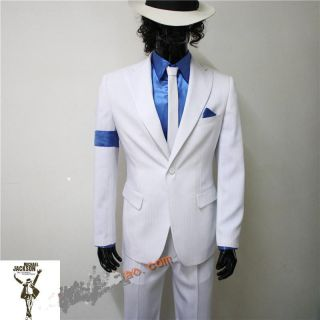 Michael Jackson Smooth Criminal Jacket Pant Shirt Tie