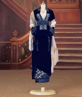 Franklin Mint Titanic Blue Velvet Gown Ensemble B11YU67