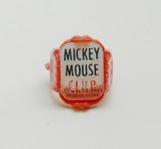 Disney Mickey Mouse Club Flicker Flasher Plastic Red Ring