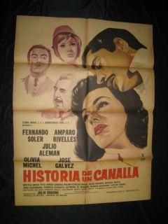 Olivia Michel Historia de Un Canalla Mexican Poster