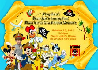 Mickey Mouse Pirate Birthday Invitations Party Favors