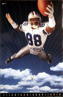 Michael Irvin Dallas Cowboys Flight 88 Nike Poster