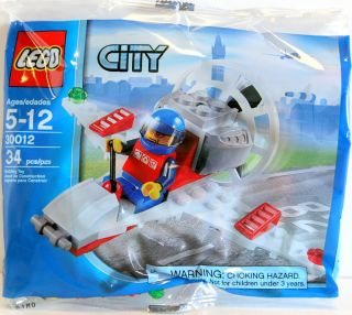 Lego City Airport Microlight Airplane Minifigure 30012