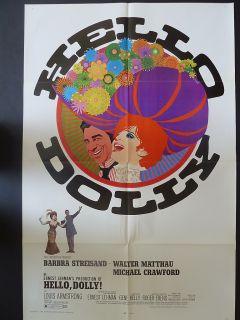 Poster 1969 Barbra Streisand Walter Matthau Michael Crawford