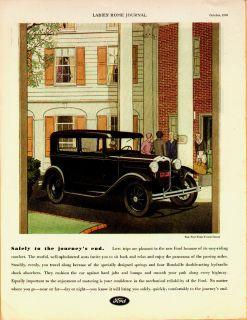 1930 Model A Ford Tudor Sedan Safely Women Driver