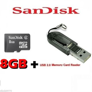 SanDisk 8GB Micro SDHC Memory Card Memory Card Reader