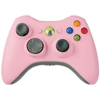 Official Microsoft Xbox 360 Wireless Pink Controller