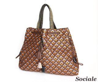 Marc Jacobs Metallic Bronze Brown Quilted Robert Lexie Tote Bag