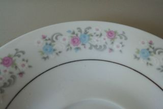 Dynasty Fine China RAPTURE Saucers Plates Floral Dinnerware Dishes