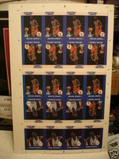 Michael Jordan NBA RARE Uncut Vintage Card Sheet 1988