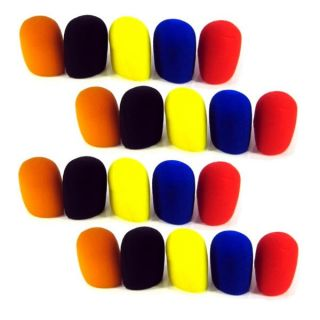 20 Mic Assorted Color Windscreens Microphone Covers
