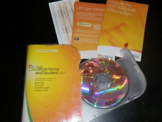 Microsoft MS Office Home and Student 2007 Retail Full install CD Suite