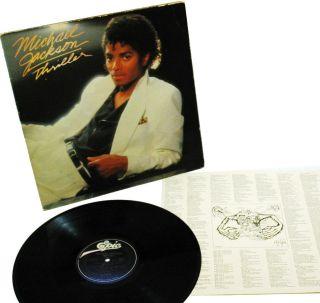 MICHAEL JACKSON Thriller RECORD Vintage 1982 LP Album AL 38112 G VG VG