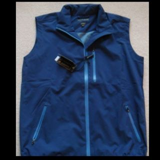 Peter Millar Element 4 Waterproof Vest Large Full Zip Golf Navy Blue $