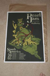 Pearl Jam Gig Poster South America 05 Brad Klausen Silk Screen Print