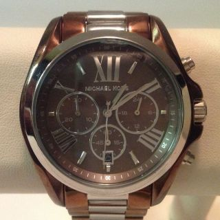 Michael Kors MK5664 Womens Bradshaw Brown and Silver Tone Chronograph