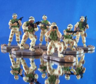 NEW AMERICAN HEROES TOY MILITARY ACTION FIGURE INFINTRY SET (6) DESERT