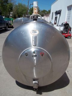 800 Gallon Insulated Stainless Steel Bulk Milk Tank for Storage