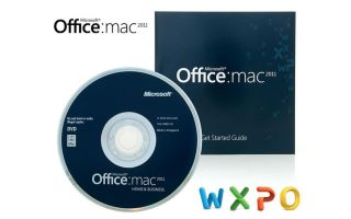 MICROSOFT OFFICE MAC 2011 HOME BUSINESS 2 MACS NEW   NEVER INSTALLED