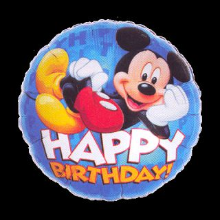 Mickey Mouse Birthday Mylar Foil Party Balloon 18