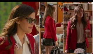 Red Tweed jacket blazer Millie Mackintosh Rachel Bilson M MEDIUM BNWT