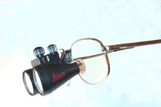 Leica Microsystems 2 5x Titanium frame Dental Surgical Loupes w clip