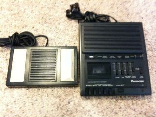 Panasonic RR 930 Microcassette Transcriber Tape Recorder Foot Control