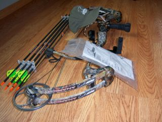 New Bear Anarchy Compound Bow RH 28 Draw 60lbs Hunt Ready Package