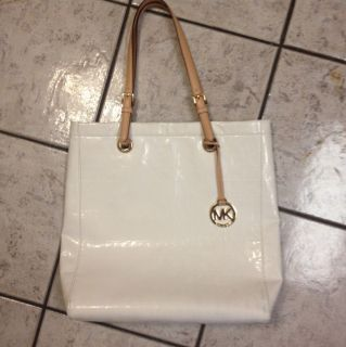 Michael Kors White PVC Bag