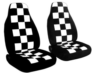 Cool Black White Checkered Car Seat Covers Mini Cooper