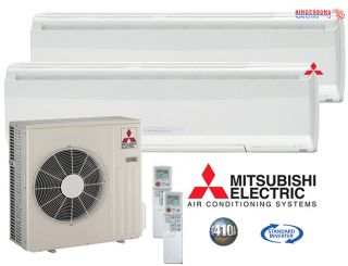 Mr Slim Ductless Mini Split Air Conditioner Dual Zone Heat