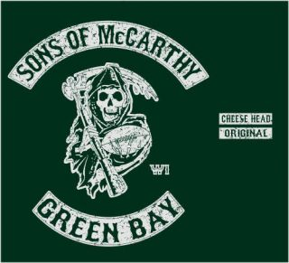Sons of McCarthy Green Bay Mike Packers T Shirt XXXL