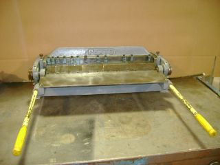 Pexto 24 Finger Brake Sheet Metal 16ga Forming Model PX24 A with All