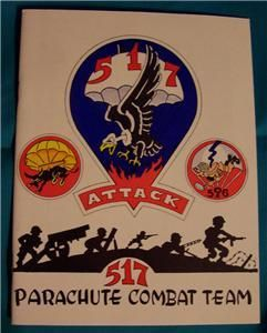 517 Paratrooper Parachute Combt Team WWII Military Book