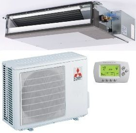 16 SEER Mitsubishi Single Zone Mini Split Heat Pump AC System