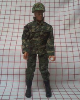 Joe Army Military Action Figure 11 inch Cammo Fatigues Hasbro 1996