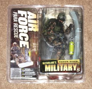 New Rare McFarlane Military Series 5 Para Rescue MIB Rappelling figure
