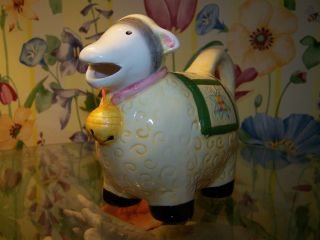 Sheep Coffee Milk Creamer Cream Ceramic Ewe Country Animal Farm