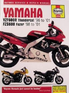 Haynes Yamaha YZF600R Thundercat 96 to 01 FZS600 Fazer 98 To 01 by